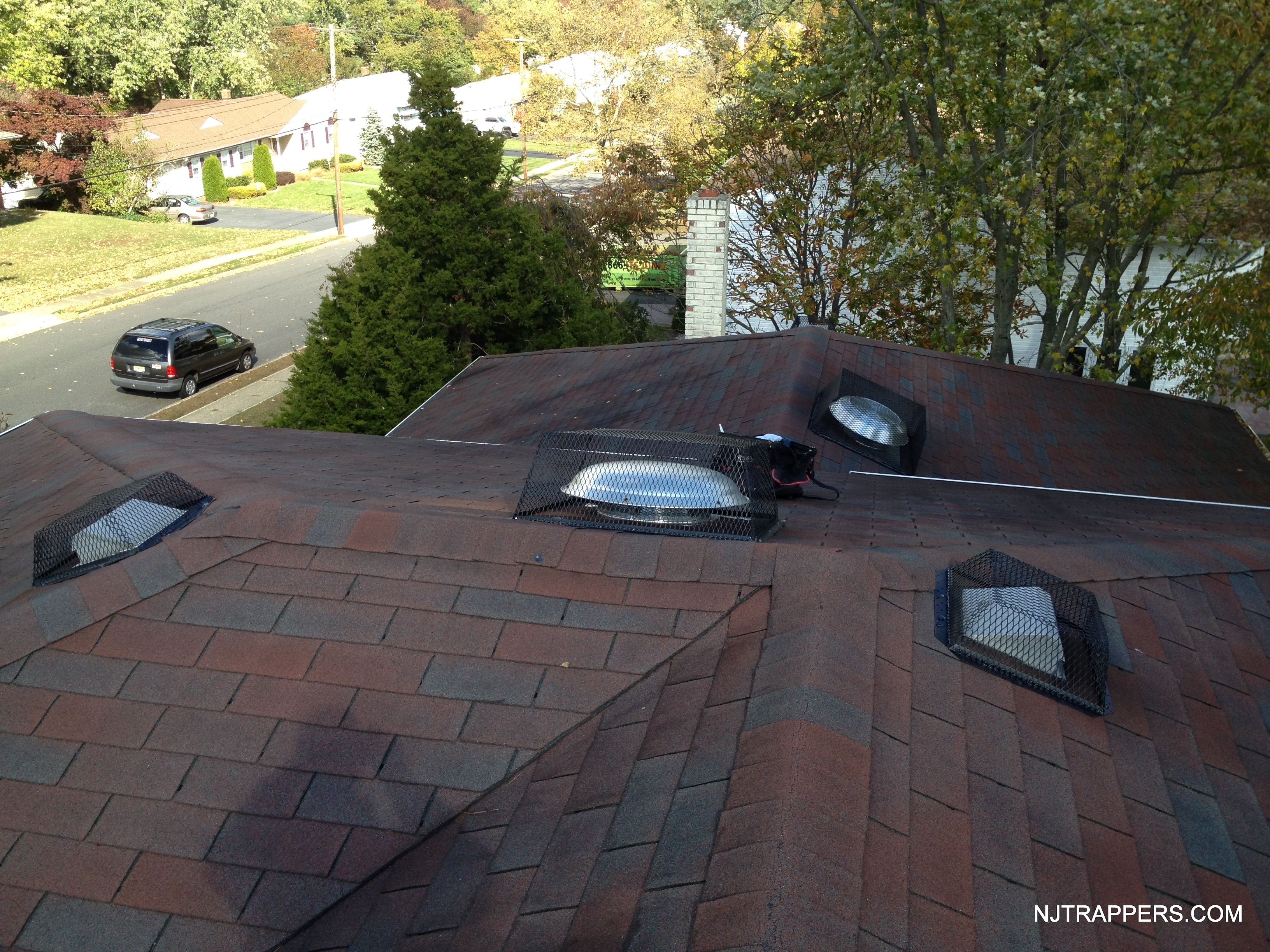 Roof Vent Covers >> Nj Trappers Attic Fan And Roof Vent Corners